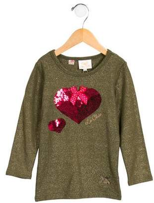 Le Chic Girls' Embellished Glitter Tunic w/ Tags