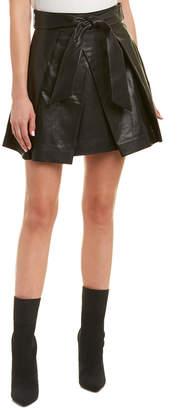 Milly Agata Leather Mini Skirt