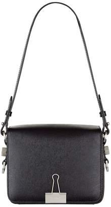 Off-White Leather Binder Clip Bag