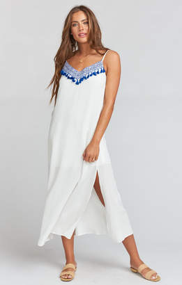 Show Me Your Mumu Angie Slip Dress ~ Casablanca Blues Embroidery