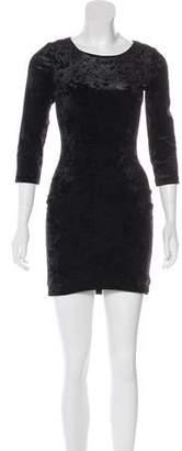 Torn By Ronny Kobo Velvet Mini Dress