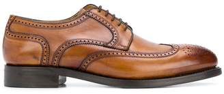 Berwick Shoes embroidered derby shoes