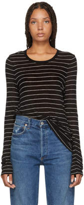 Alexander Wang Black Striped Jersey Long Sleeve T-Shirt