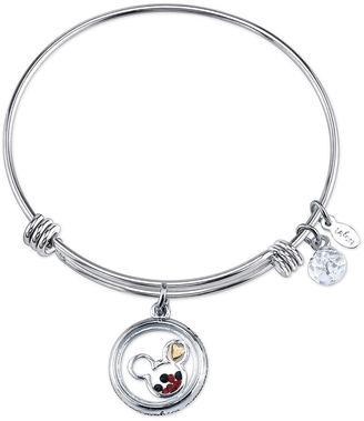 DISNEY Disney Womens Mickey Mouse Silver Over Brass Charm Bracelet $60 thestylecure.com