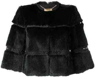 Liu Jo layered fur jacket