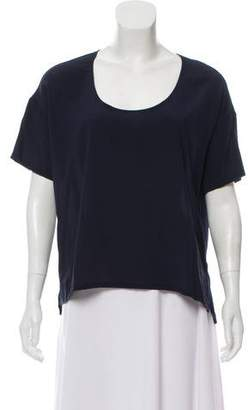 Bella Luxx Short Sleeve Silk Top