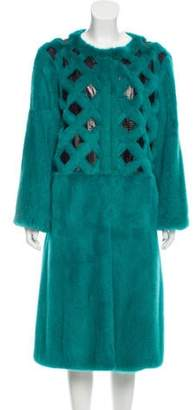 Oscar de la Renta Snake & Mink Fur Coat w/ Tags