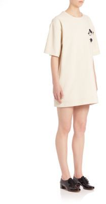 Marc Jacobs Marc Jacobs Roundneck Cotton Shift Dress
