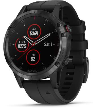 Garmin fenix(R) 5 Plus Sapphire Premium Multisport GPS Watch, 47mm