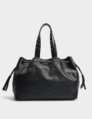 Gerard Darel Simple 2 Bis Tote Bag in Black Leather