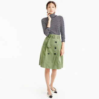 Chino trench skirt $110 thestylecure.com