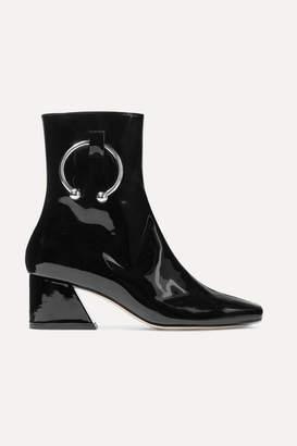 1db1fd2aca12 DORATEYMUR - Nizip Embellished Patent-leather Ankle Boots - Black