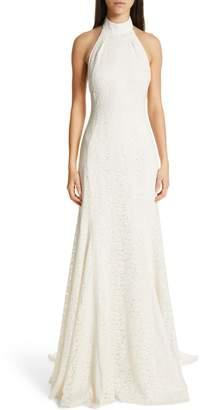 Stella McCartney F18 Magnolia Halter Lace Wedding Dress