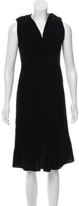 Amelia Toro Sleeveless Velvet Dress