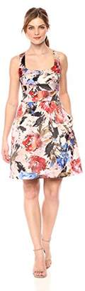 Nicole Miller New York Women's Printed fit Flare Cocktail Dress