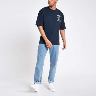 River Island Mens Only & Sons Blue Jacko boxy T-shirt