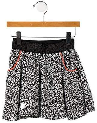 Little Eleven Paris Girls' Printed Mini Skirt