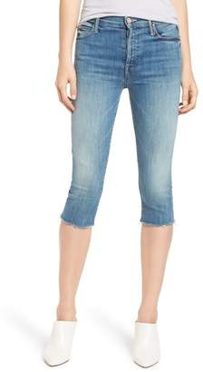 Mother The Stunner Knicker Frayed Capri Jeans