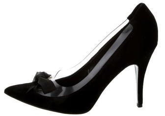 Stella McCartney Velvet PVC-Trimmed Pumps