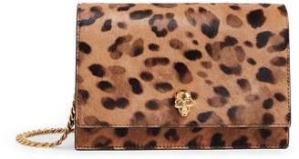 Alexander McQueen Leopard Print Skull Clutch Bag