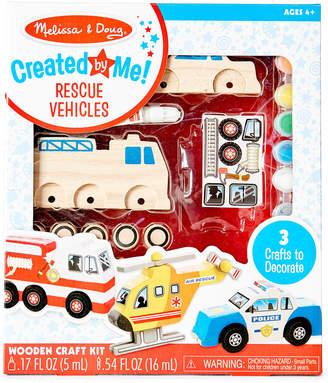 Melissa & Doug Rescue Vehicles Wooden Craft Kit