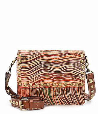 Patricia Nash Wavy Stripe Collection Hermosa Pyramid-Studded Cross-Body Bag $199 thestylecure.com