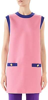 Gucci Women's Cady Crepe Wool Colorblock Tunic