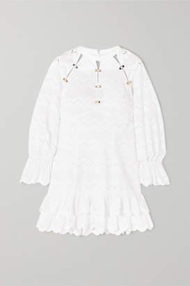 Alice McCall Ziggy Ruffled Broderie Anglaise Cotton Mini Dress