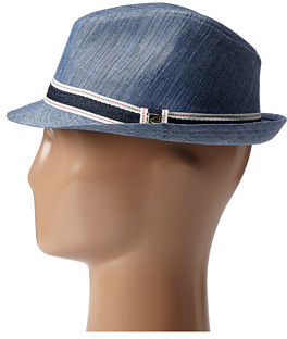Sperry Chambray Fedora w/ Ribbon Trim
