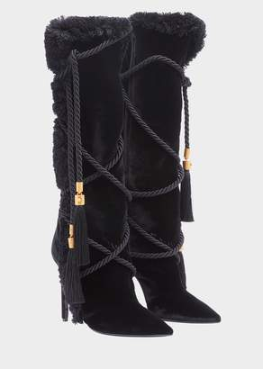 Versace Pillow Talk Velvet Boots