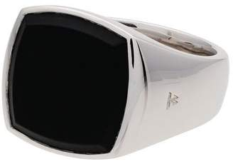 Tom Wood Cushion onyx sterling silver signet ring