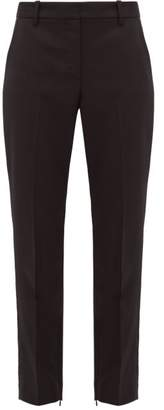 Nili Lotan Leo Wool Blend Twill Slim Leg Trousers - Womens - Black