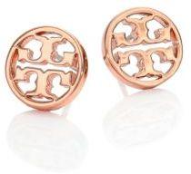 Tory BurchTory Burch Logo Circle Stud Earrings/Rose Goldtone