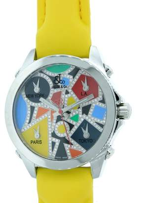 Jacob & co Five Time Zone Diamond-Accented Multi-Colored Unisex Watch