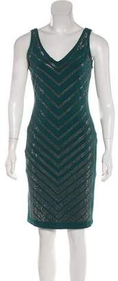 Carmen Marc Valvo Embellished Sleeveless Dress