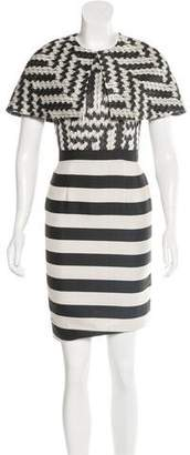 Christian Siriano Mixed Pattern Dress Set