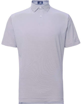 Dunhill Links Striped Tech-Jersey Golf Polo Shirt