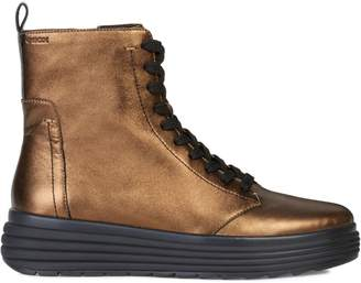 Geox Phaolae Leather Lace-Up Boots