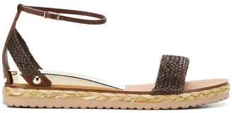 Casadei woven strap sandals
