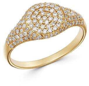 Moon & Meadow Diamond Signet Ring in 14K Yellow Gold, 0.57 ct. t.w. - 100% Exclusive