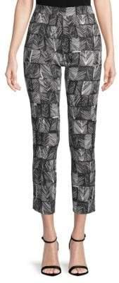 Max Mara Paggio Printed Cropped Pants
