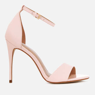 0fc1ad809d8 Carvela Women s Glimmer Patent Barely There Heeled Sandals - Nude