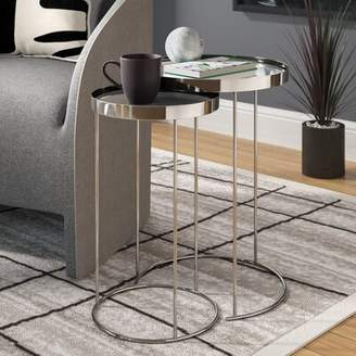 Orren Ellis Adcock 2 Piece Nesting Tables Orren Ellis