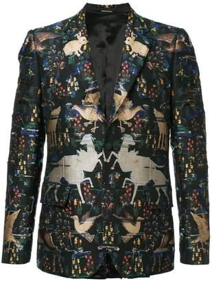 Alexander McQueen jacquard blazer