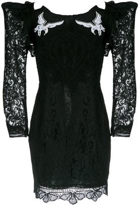 Martha Medeiros short lace dress