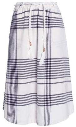 Antik Batik Checked Cotton-Canvas Midi Skirt