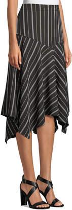 Max Studio Stripe Handkerchief Skirt