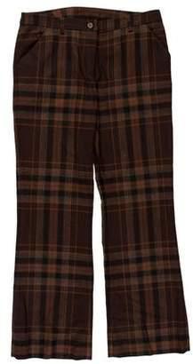Dolce & Gabbana Plaid Wool-Blend Pants