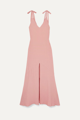 Les Héroïnes The Aretha Crepe Maxi Dress - Pink