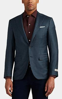 Canali Men's Capri Checked Wool Two-Button Sportcoat - Olive